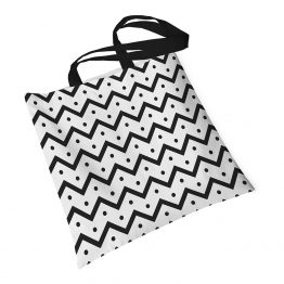 Tote Bag Chevron com Flores
